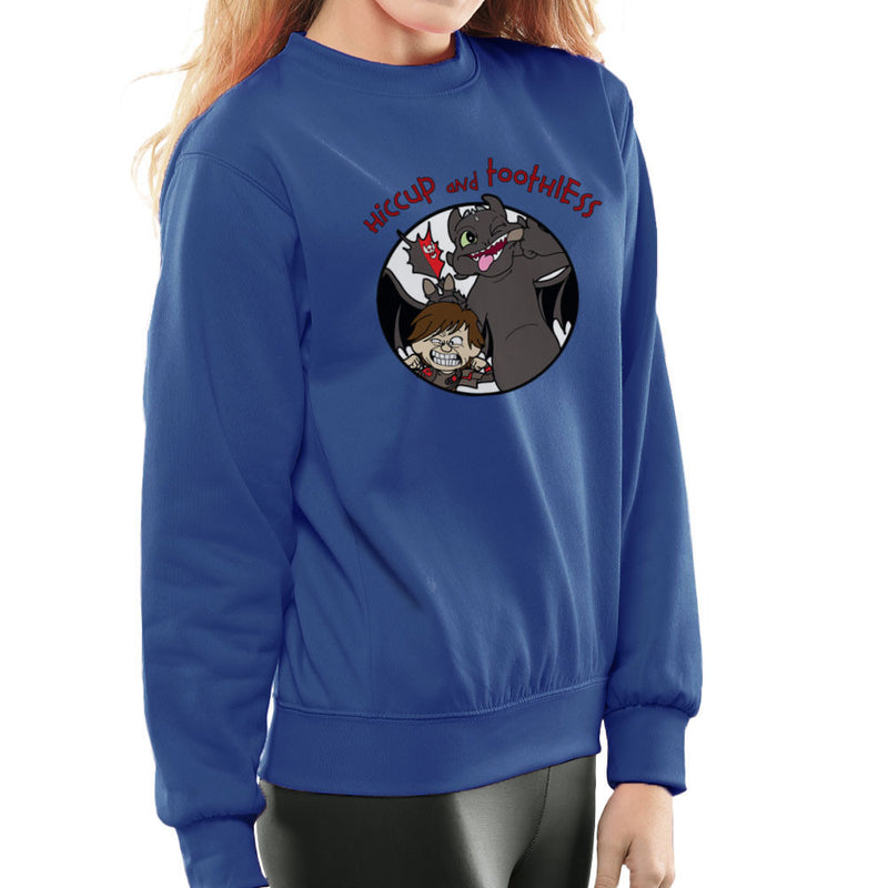 Hiccup and Toothless How to Train Your Dragon Calvin and Hobbes Women's Sweatshirt Women's Sweatshirt Cloud City 7 - 8