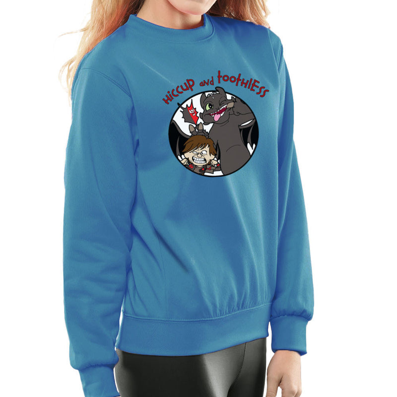 Hiccup and Toothless How to Train Your Dragon Calvin and Hobbes Women's Sweatshirt Women's Sweatshirt Cloud City 7 - 10