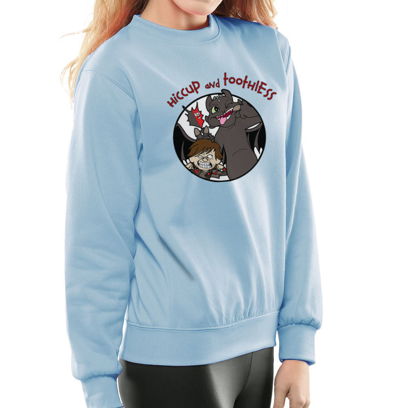 Hiccup and Toothless How to Train Your Dragon Calvin and Hobbes Women's Sweatshirt Women's Sweatshirt Cloud City 7 - 11