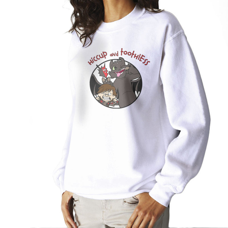 Hiccup and Toothless How to Train Your Dragon Calvin and Hobbes Women's Sweatshirt Women's Sweatshirt Cloud City 7 - 6