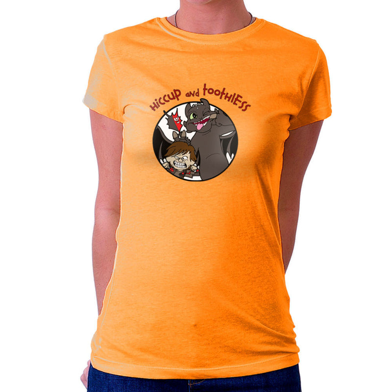 Hiccup and Toothless How to Train Your Dragon Calvin and Hobbes Women's T-Shirt by TopNotchy - Cloud City 7