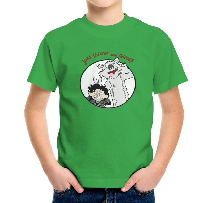 Jon Snow and Ghost Game of Thrones Calvin and Hobbes Kid's T-Shirt Kid's Boy's T-Shirt Cloud City 7 - 14