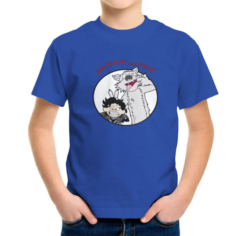 Jon Snow and Ghost Game of Thrones Calvin and Hobbes Kid's T-Shirt by TopNotchy - Cloud City 7