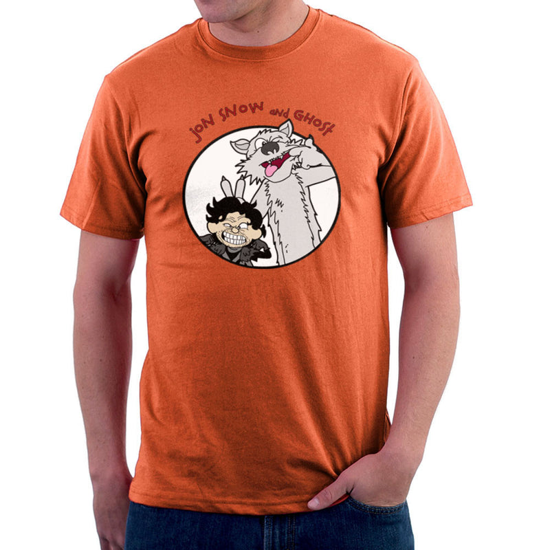 Jon Snow and Ghost Game of Thrones Calvin and Hobbes Men's T-Shirt Men's T-Shirt Cloud City 7 - 17