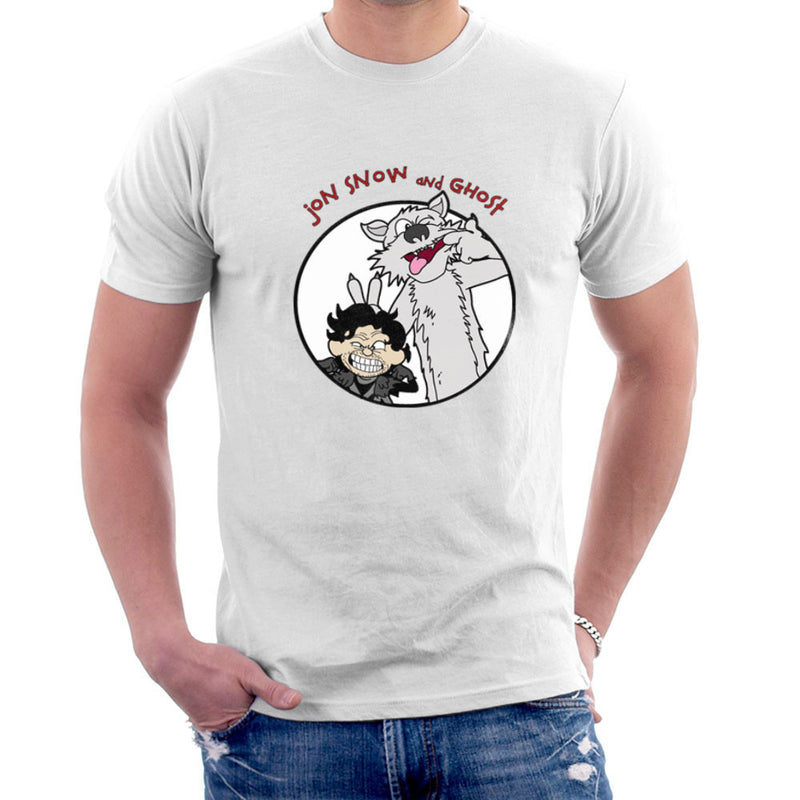 Jon Snow and Ghost Game of Thrones Calvin and Hobbes Men's T-Shirt by TopNotchy - Cloud City 7