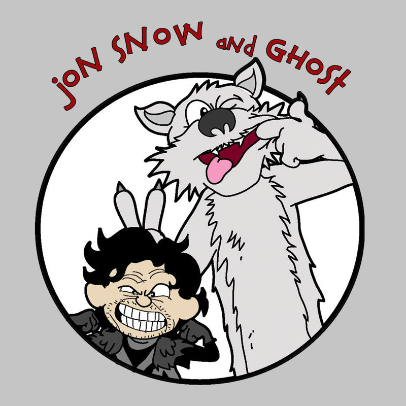 Jon Snow and Ghost Game of Thrones Calvin and Hobbes Kid's T-Shirt Kid's Boy's T-Shirt Cloud City 7 - 3