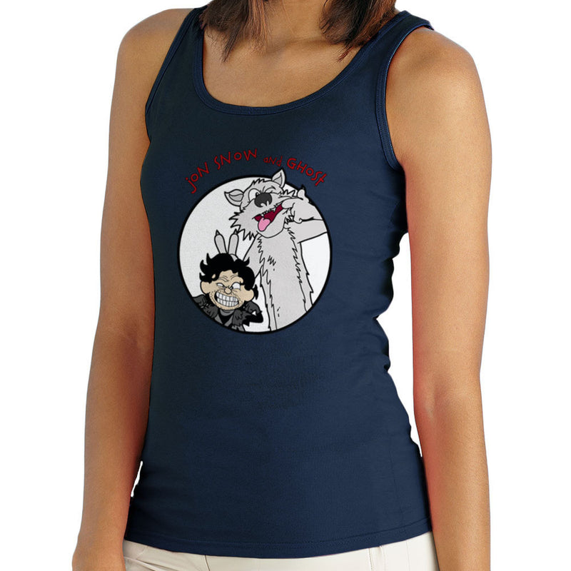 Jon Snow and Ghost Game of Thrones Calvin and Hobbes Women's Vest by TopNotchy - Cloud City 7