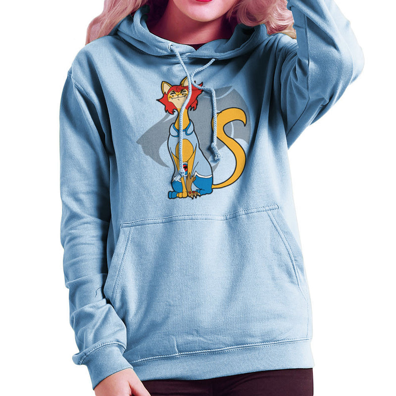Cat a Like LionO Thundercats Women's Hooded Sweatshirt by TopNotchy - Cloud City 7
