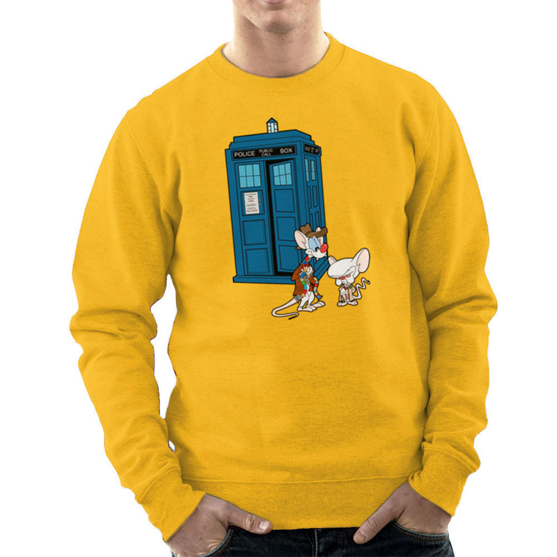Pinky and the Brain Doctor Who Tardis Classic Men's Sweatshirt by TopNotchy - Cloud City 7