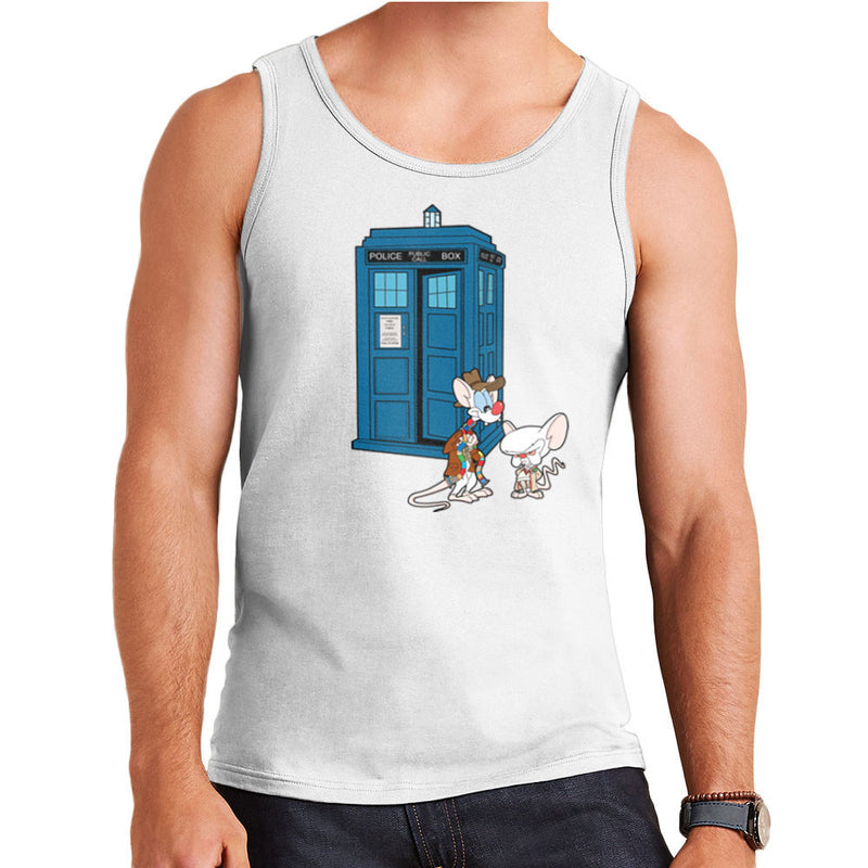 Pinky and the Brain Doctor Who Tardis Classic Men's Vest by TopNotchy - Cloud City 7