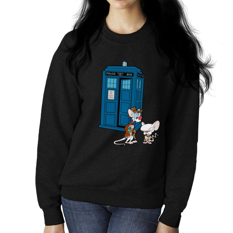 Pinky and the Brain Doctor Who Tardis Classic Women's Sweatshirt by TopNotchy - Cloud City 7