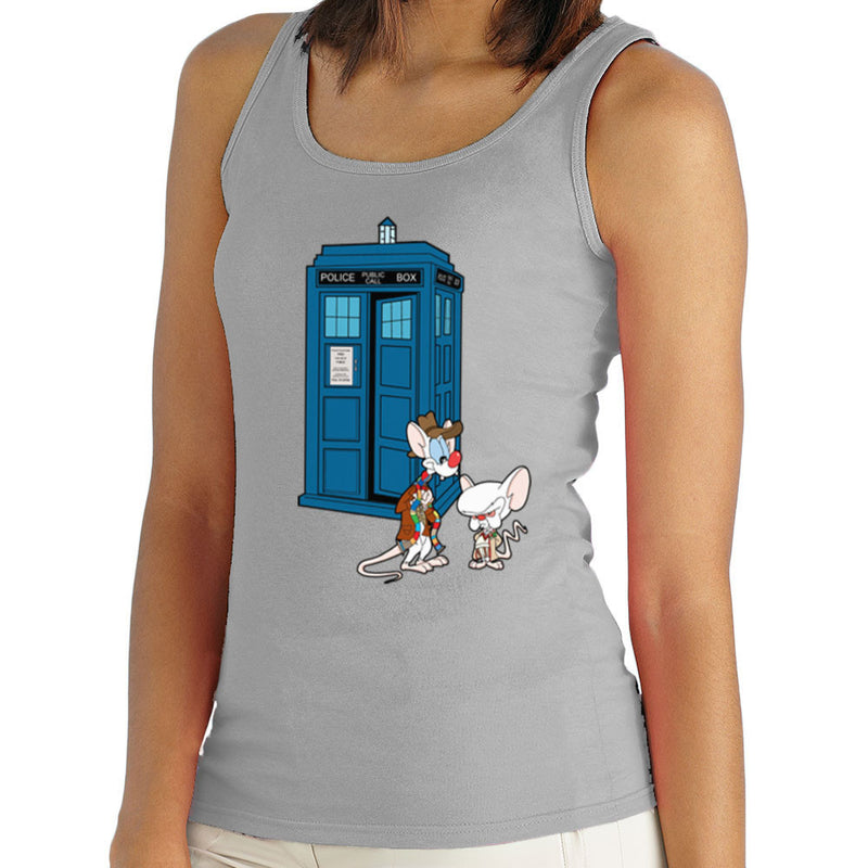 Pinky and the Brain Doctor Who Tardis Classic Women's Vest Women's Vest Cloud City 7 - 4