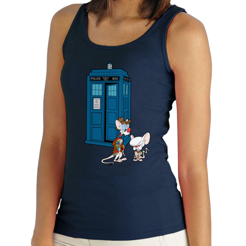 Pinky and the Brain Doctor Who Tardis Classic Women's Vest Women's Vest Cloud City 7 - 1