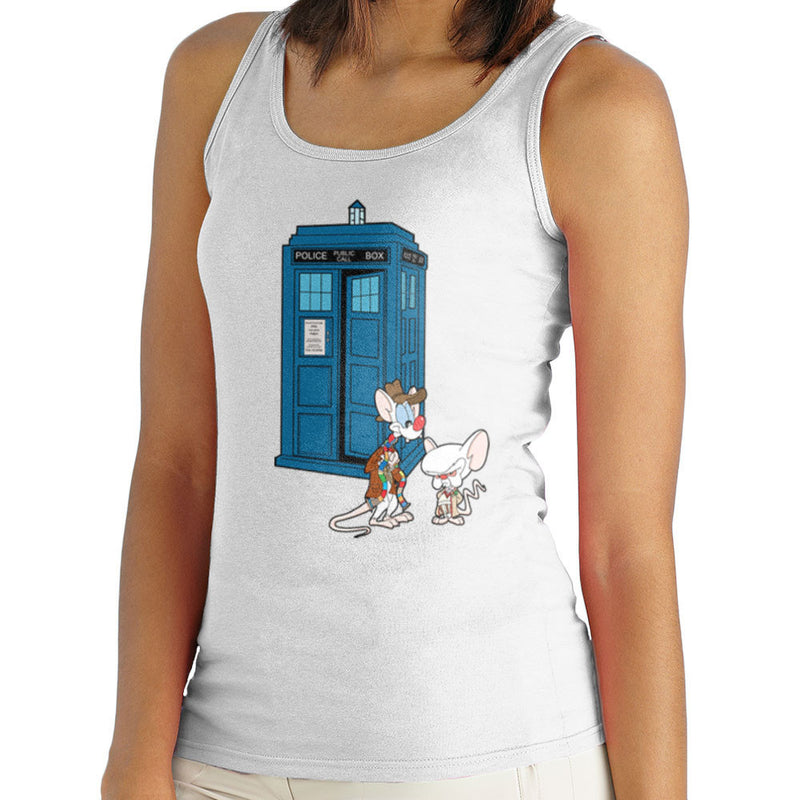 Pinky and the Brain Doctor Who Tardis Classic Women's Vest Women's Vest Cloud City 7 - 5
