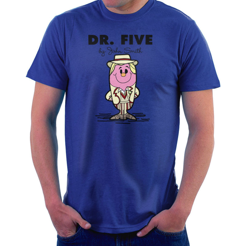 Dr Five Doctor Who Peter Davison Mr Men Men's T-Shirt by TopNotchy - Cloud City 7