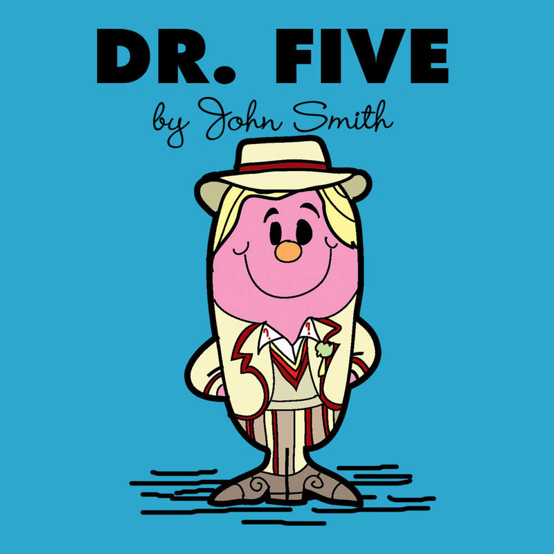 Dr Five Doctor Who Peter Davison Mr Men Kid's T-Shirt Kid's Boy's T-Shirt Cloud City 7 - 3