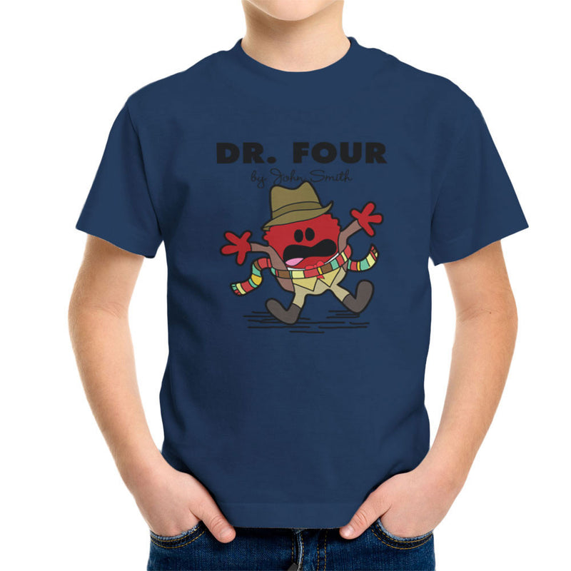 Dr Four Doctor Who Tom Baker Mr Men Kid's T-Shirt by TopNotchy - Cloud City 7