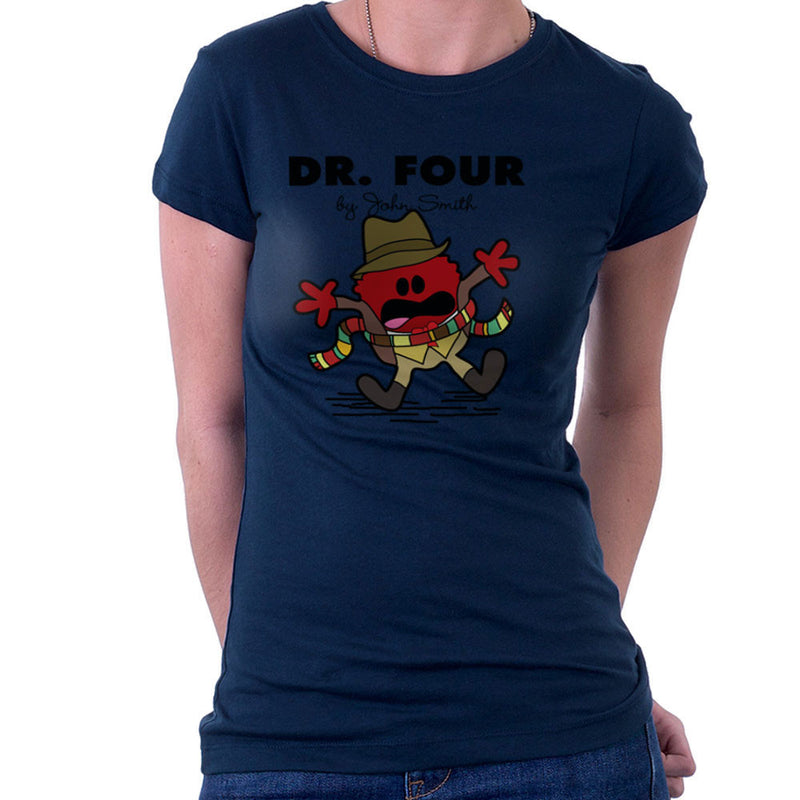 Dr Four Doctor Who Tom Baker Mr Men Women's T-Shirt by TopNotchy - Cloud City 7