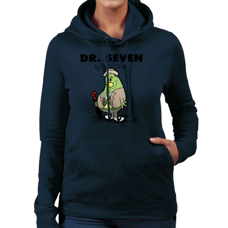 Dr Seven Doctor Who Sylvester McCoy Mr Men Women's Hooded Sweatshirt by TopNotchy - Cloud City 7