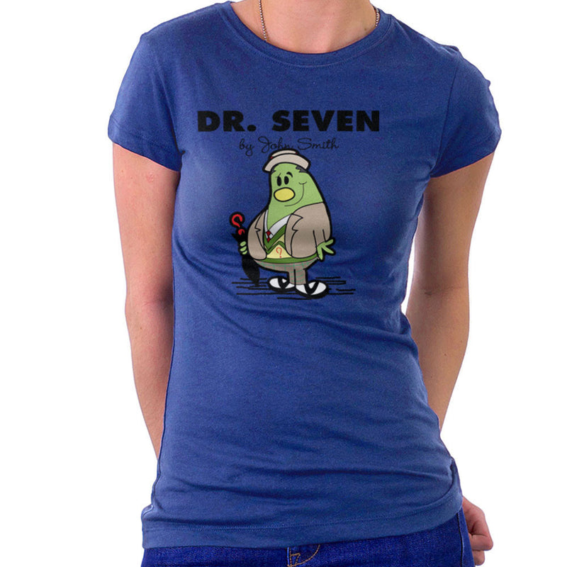 Dr Seven Doctor Who Sylvester McCoy Mr Men Women's T-Shirt by TopNotchy - Cloud City 7
