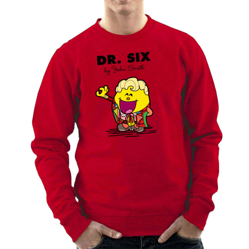 Dr Six Doctor Who Colin Baker Mr Men Men's Sweatshirt by TopNotchy - Cloud City 7