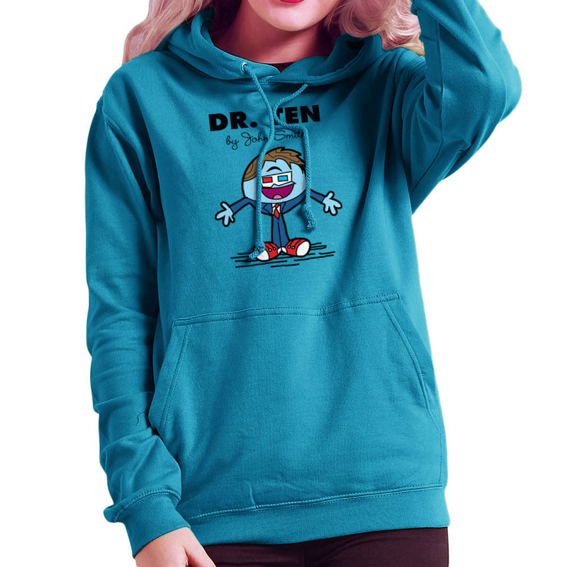 Dr Ten Doctor who David Tennant Mr Men Women's Hooded Sweatshirt by TopNotchy - Cloud City 7