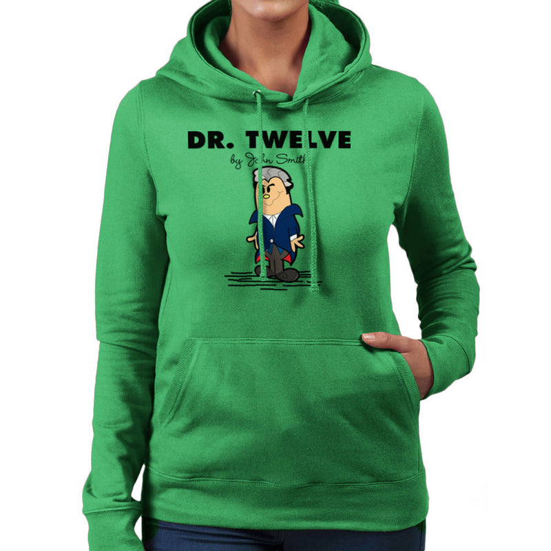 Dr Twelve Doctor Who Peter Capaldi Mr Men Women's Hooded Sweatshirt by TopNotchy - Cloud City 7