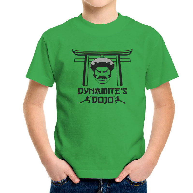 Black Dynamites Dojo Kid's T-Shirt by Sillicus - Cloud City 7