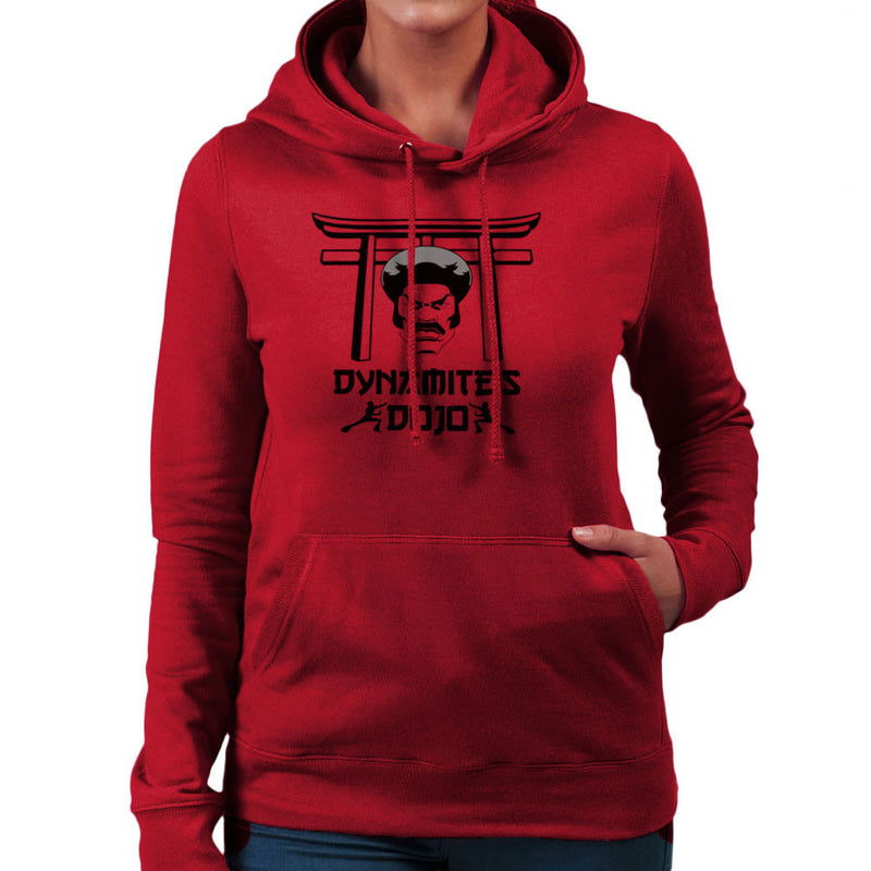 Black Dynamites Dojo Women's Hooded Sweatshirt by Sillicus - Cloud City 7