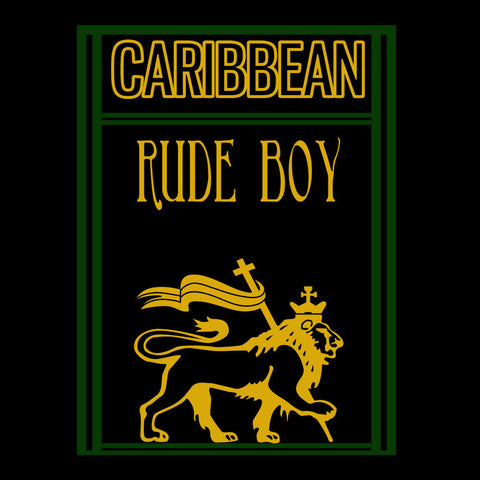 Caribbean Rude Boy Lion Of Judah With Flag