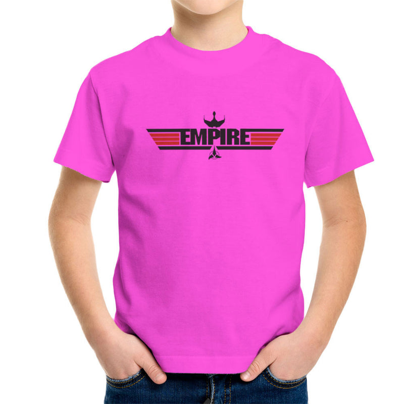Empire Top Gun Logo IKS Korga Star Trek Klingon Kid's T-Shirt by Sillicus - Cloud City 7