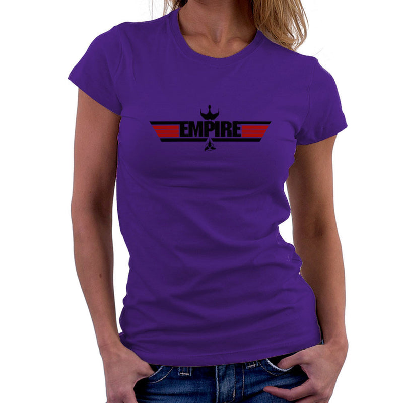 Empire Top Gun Logo IKS Korga Star Trek Klingon Women's T-Shirt by Sillicus - Cloud City 7