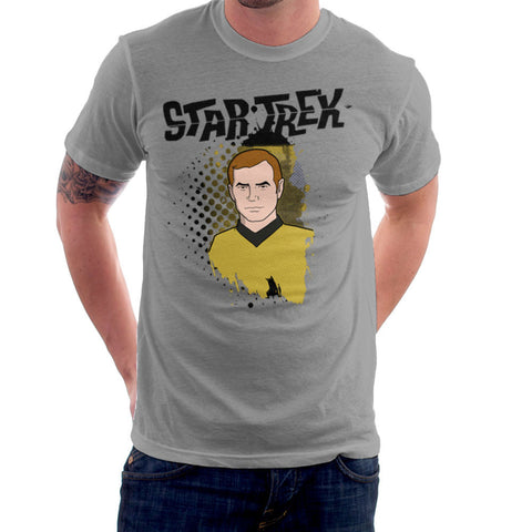 Star Trek Animated Grunge Captain Kirk