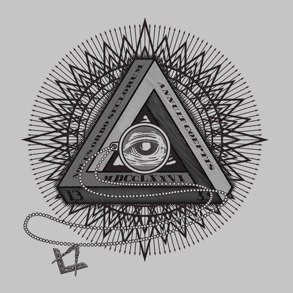 All Seeing Eye of Providence Black design Cloud City 7 - 1