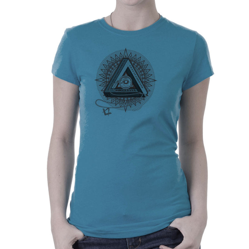 All Seeing Eye of Providence Black Women's T-Shirt by DarkChoocoolat - Cloud City 7