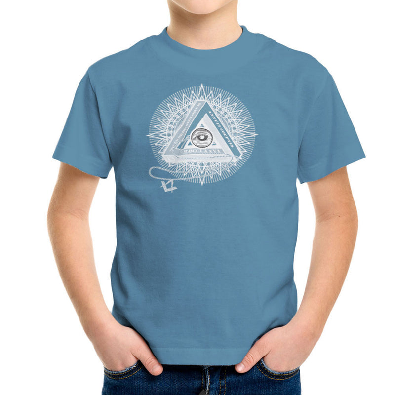 All Seeing Eye of Providence White Kid's T-Shirt by DarkChoocoolat - Cloud City 7