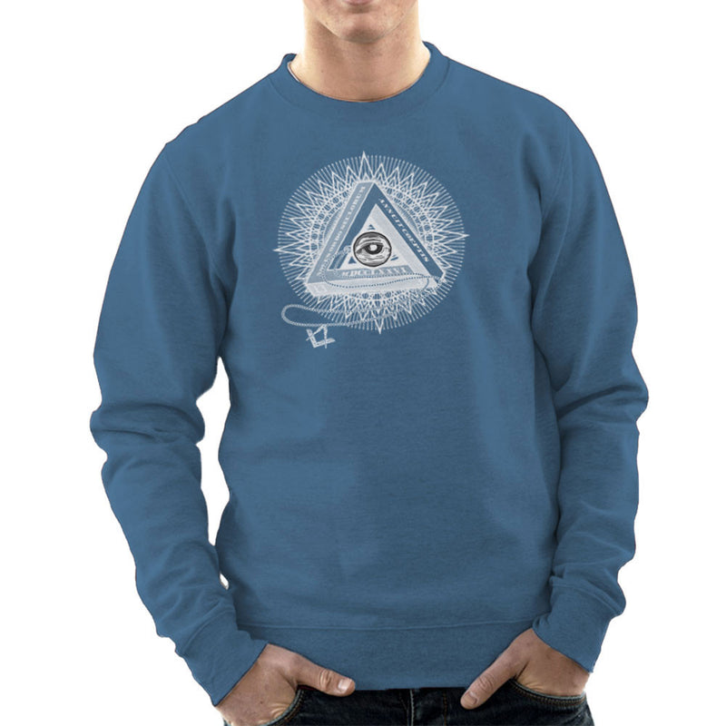 All Seeing Eye of Providence White Men's Sweatshirt by DarkChoocoolat - Cloud City 7