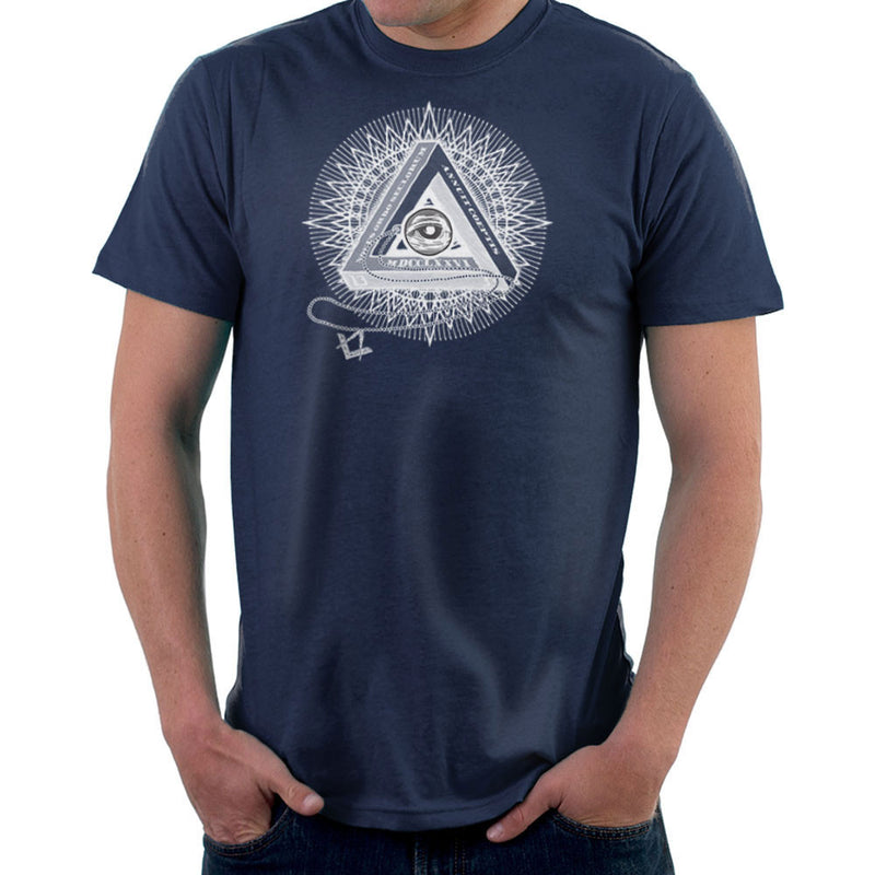 All Seeing Eye of Providence White Men's T-Shirt by DarkChoocoolat - Cloud City 7