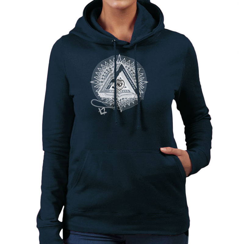 All Seeing Eye of Providence White Women's Hooded Sweatshirt by DarkChoocoolat - Cloud City 7