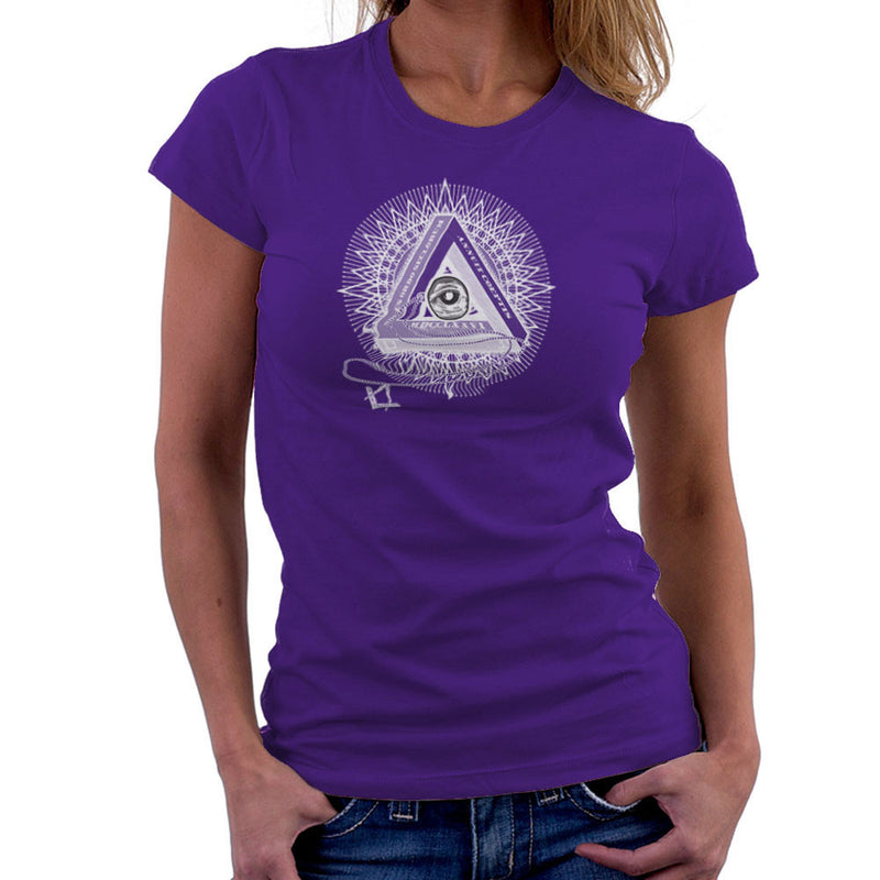 All Seeing Eye of Providence White Women's T-Shirt by DarkChoocoolat - Cloud City 7
