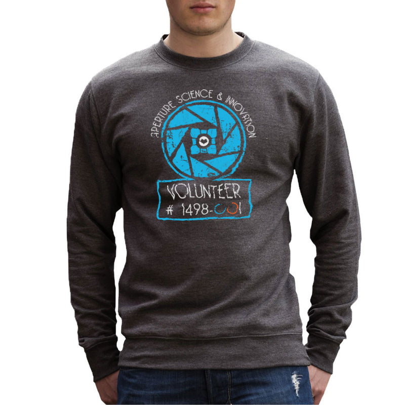 Apperture Science and Innovation Portal Half Life Men's Sweatshirt by DarkChoocoolat - Cloud City 7