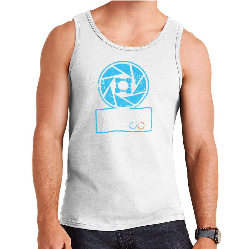 Apperture Science and Innovation Portal Half Life Men's Vest by DarkChoocoolat - Cloud City 7