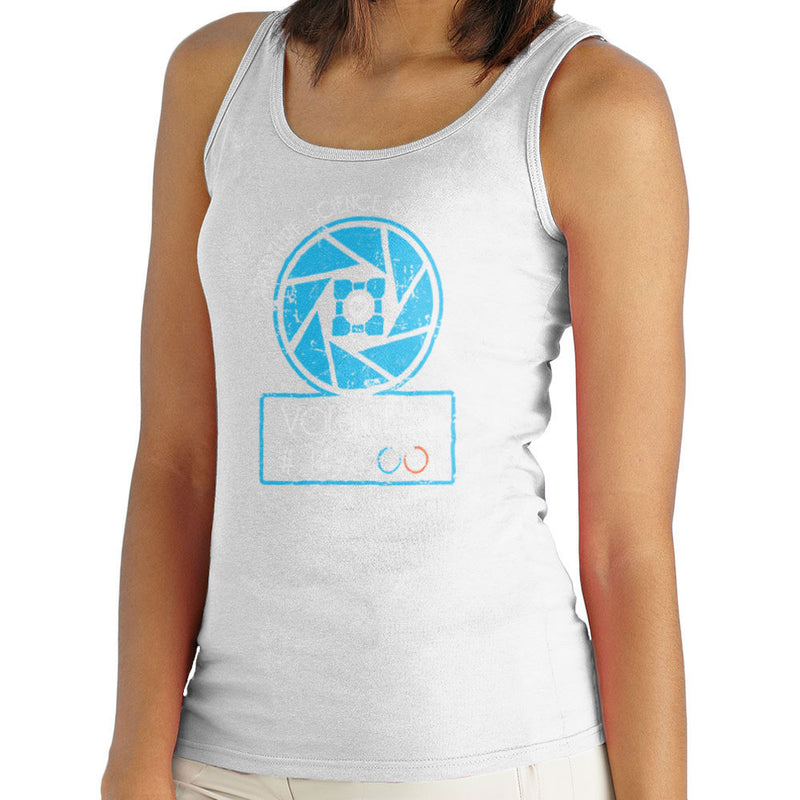 Apperture Science and Innovation Portal Half Life Women's Vest by DarkChoocoolat - Cloud City 7