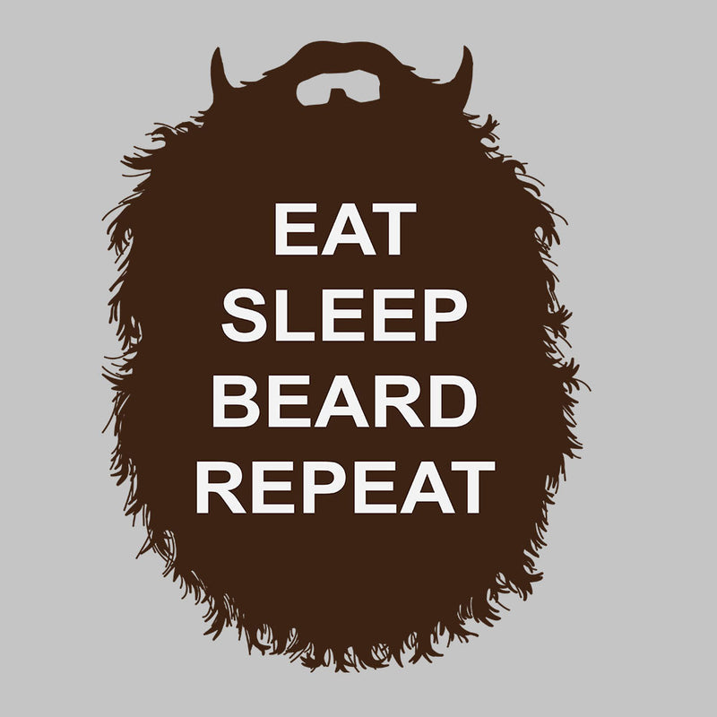 The Beard Collection Eat Sleep Beard Repeat Men's T-Shirt by DarkChoocoolat - Cloud City 7