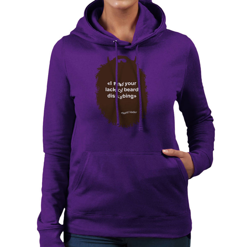 The Beard Collection Lack of Beard Women's Hooded Sweatshirt by DarkChoocoolat - Cloud City 7