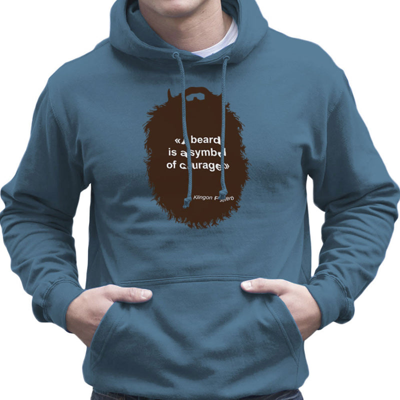 The Beard Collection Symbol of Courage Men's Hooded Sweatshirt by DarkChoocoolat - Cloud City 7
