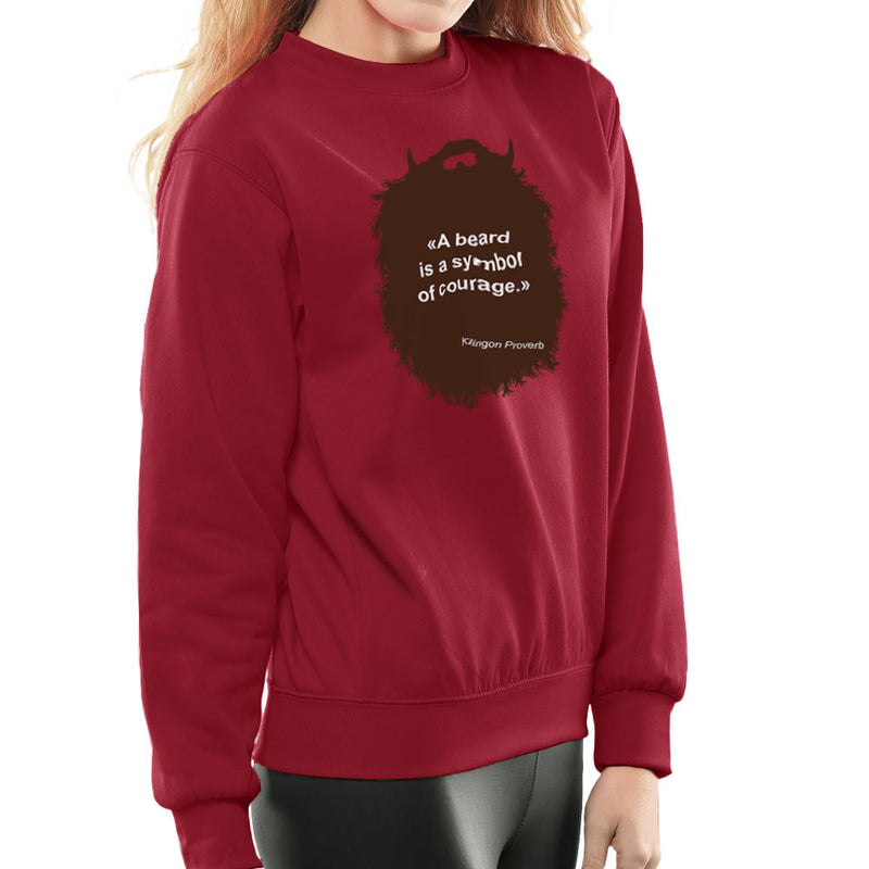 The Beard Collection Symbol of Courage Women's Sweatshirt by DarkChoocoolat - Cloud City 7
