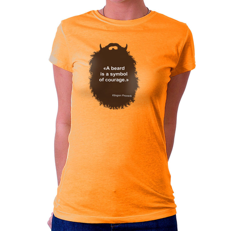 The Beard Collection Symbol of Courage Women's T-Shirt by DarkChoocoolat - Cloud City 7