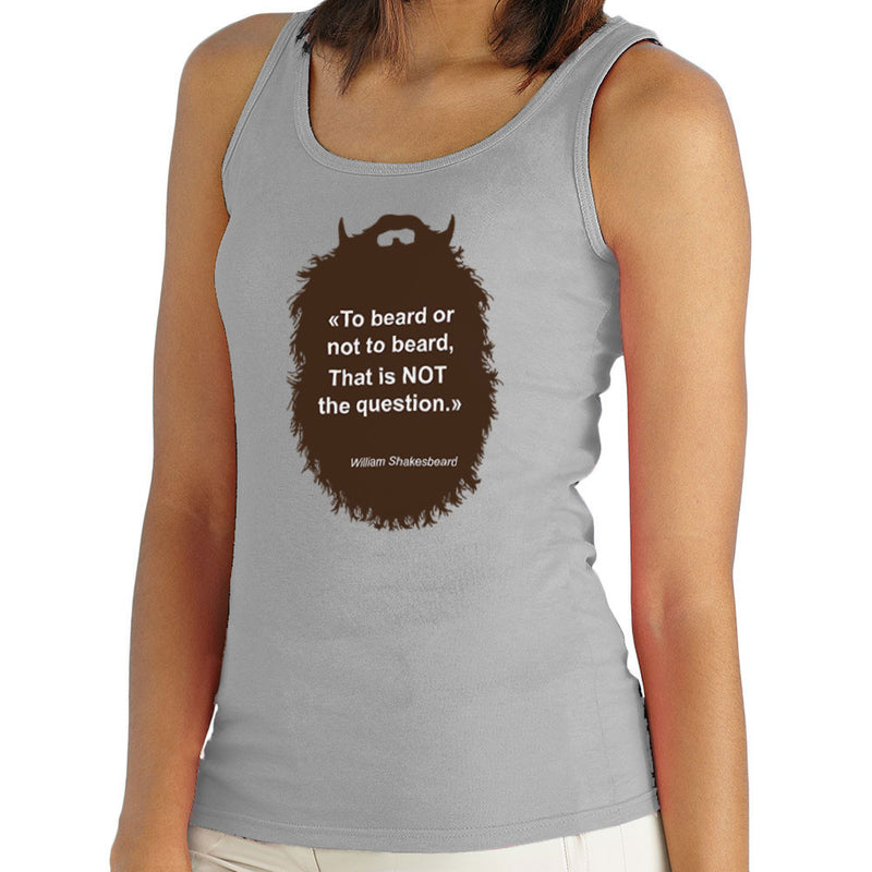 The Beard Collection To Beard or No To Beard Women's Vest by DarkChoocoolat - Cloud City 7