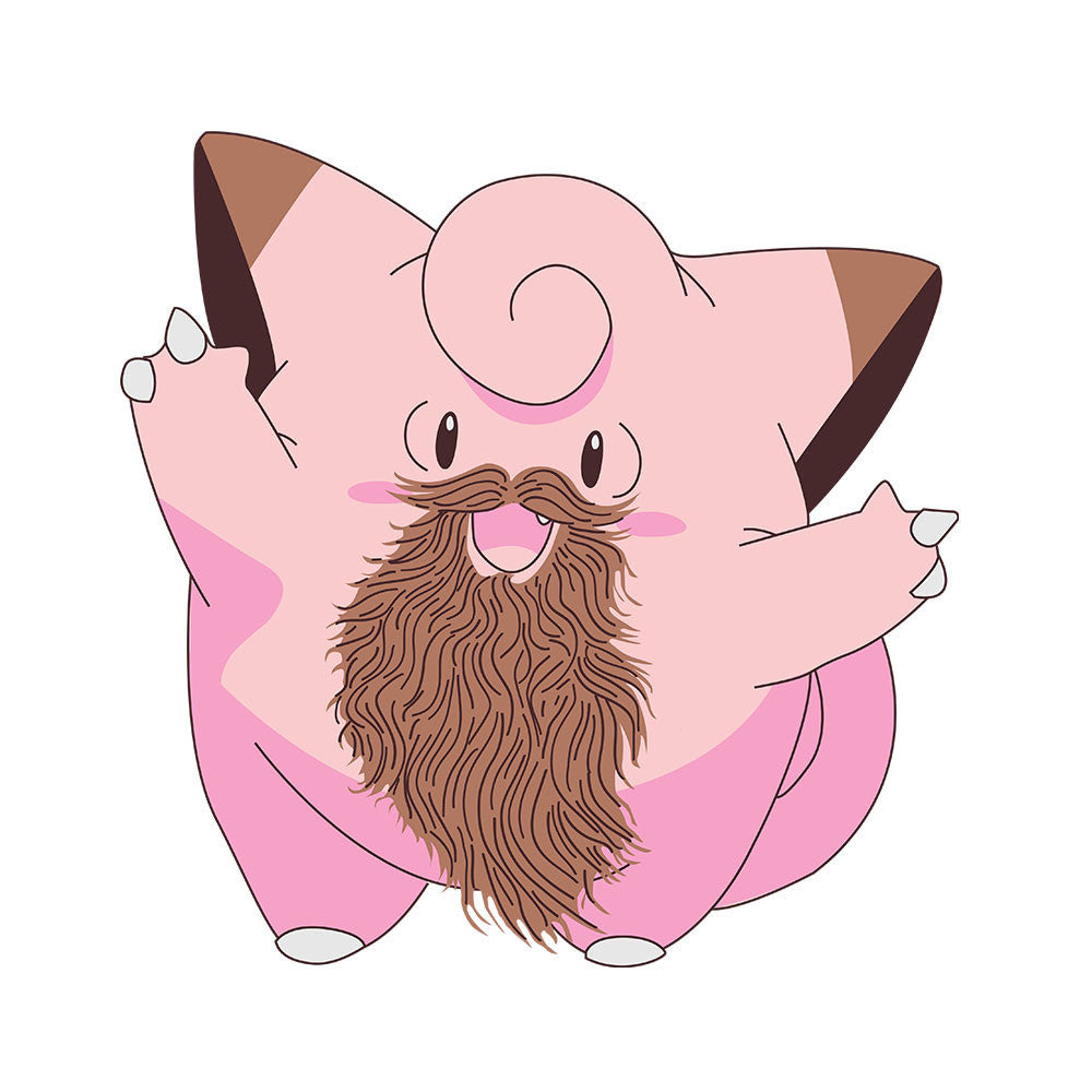 Beardemon Clefairy Pokemon Beard design Cloud City 7 - 1